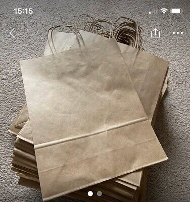 Brown Carrier Bags 74 Twisted Handle Medium Large Retail