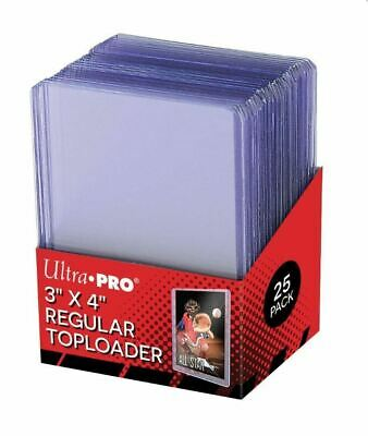 Pack of 25 Ultra Pro 3x4 Regular Ultra Clear Top Loaders Toploaders SEALED NEW