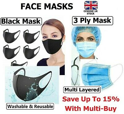 Face Mask - Face, Mouth & Nose Protection Masks