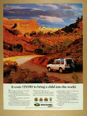 1995 Land Rover Discovery color photo vintage print Ad