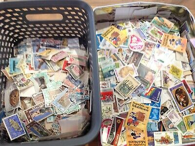 50 Different QE2 British Commonwealth Stamps (QEII) off paper