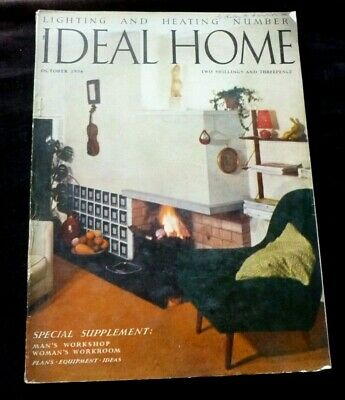 IDEAL HOME Vintage Magazine OCTOBER 1956 Parker Knoll, Midwinter Pottery etc
