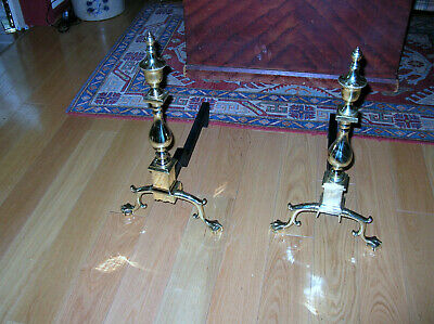 Williamsburg Va Metalcrafters/Harvin Ball & Claw Andirons Mint