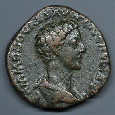 Rare Brass Dupondius Of Commodus As Caesar: Priestly Implements. Rome, Ad 175-6.