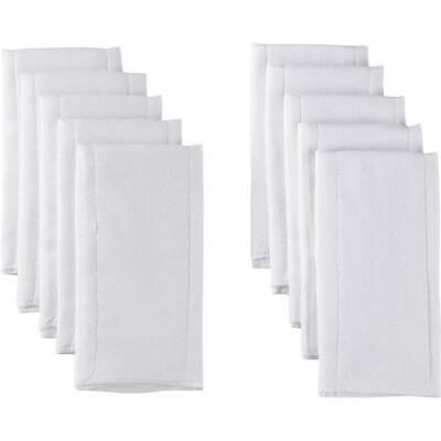 Gerber 10 Count Prefold Birdseye Diaper with Pad, White