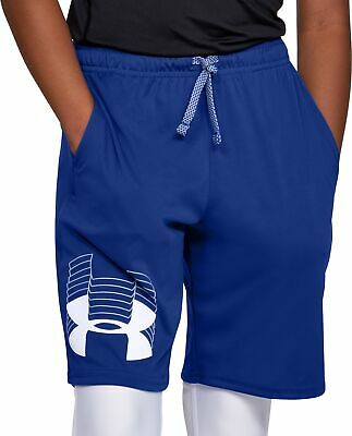 Under Armour Prototype Logo Boys Junior Running Shorts - Blue