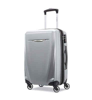 "Samsonite Winfield 3 DLX Spinner Hardside Carry-On Silver Luggage 56/20"" 120752"