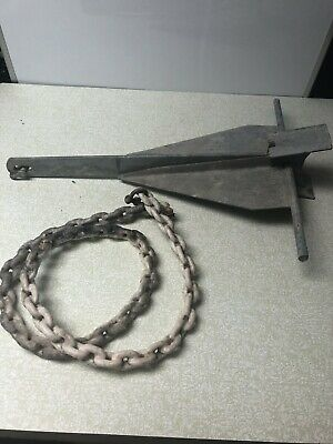 Vintage BOAT ANCHOR 15lb With 5' Coated Chain
