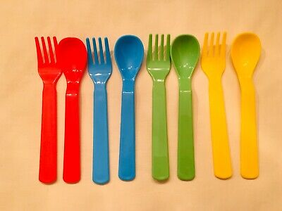 3 x Baby Fork And Spoon Set Ergonomically Designed New Complies With EN 14372