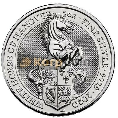 2020 2 oz The White Horse Queen's Beasts Silver Bullion