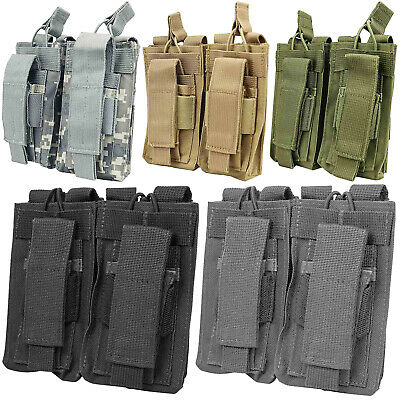 NcSTAR MOLLE PALS Modular Double Rifle Pistol Magazine Mag Pouch - ALL COLORS