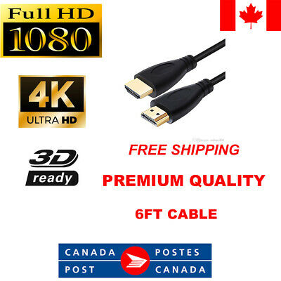 Brand New HDMI Premium Cable V2.0 Gold Plated High Speed Audio 3D 4K Ultra HD 6m