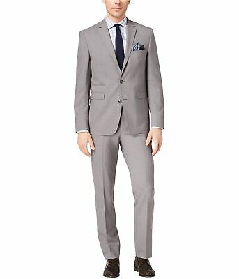 Vince Camuto Mens Slim Fit Two Button Formal Suit medgrey 38/Unfinished