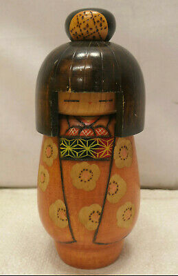 Vintage Kokeshi Creative Style Wooden Japanese Doll Vintage #627