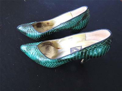 Vintage 1990'S J. Green Snakeskin Shoes Size 6 M Excellent Condition