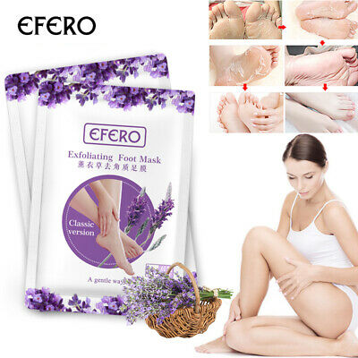 Peeling and exfoliating foot masks to remove hard calluses like baby soft feet