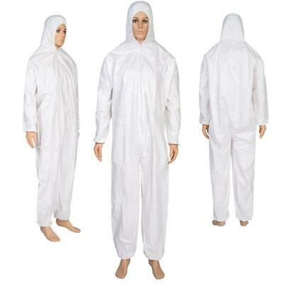 Disposable Coveralls White Hood  Boiler suit Painters Protective Overalls Suit