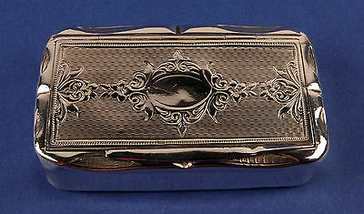 Antique French Solid Silver Pill or Snuff Box