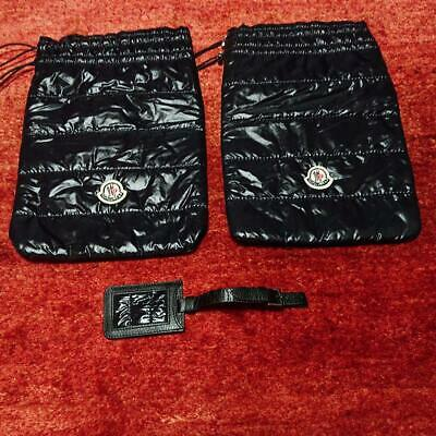 Rare RIMOWA Moncler Collaboration Carry Case Limited Shoe case and name tag set