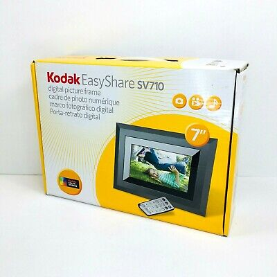 "Kodak EasyShare SV710 7"" Digital Picture Frame & Remote & AC Adapter - Works"