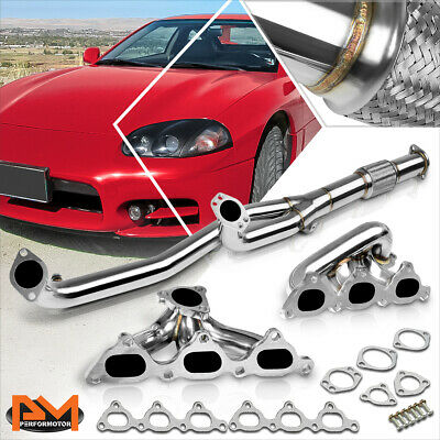 Stainless Steel Manifold Exhaust Header For Honda 98-02 Accord//Acura 02-03 CL V6 3.2 L//Acura 99-03 TL Base V6 3.2L