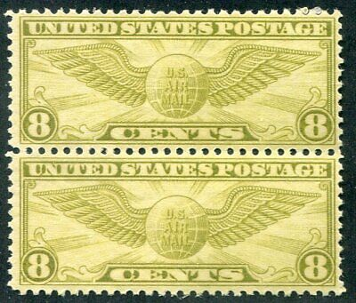 US   C17  Beautiful  Mint  NEVER  Hinged  AIR  MAIL  Pair   UPTOWN