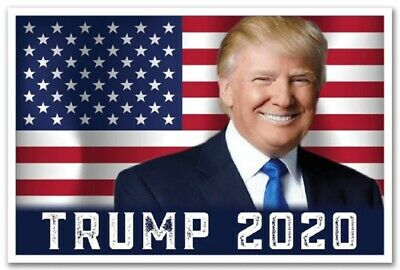DONALD TRUMP President 2020 Re Election Campaign Poster Two Sided 12x18 Glossy
