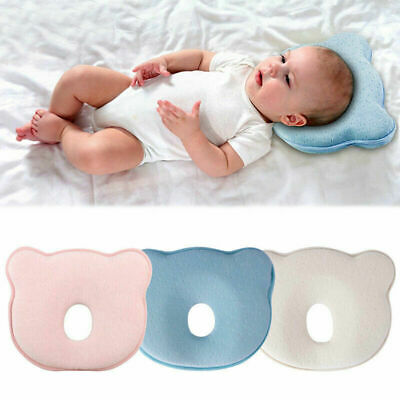Soft Pillow Newborn Baby Infant Anti Flat Head Cushion For Crib Bed Neck-Support