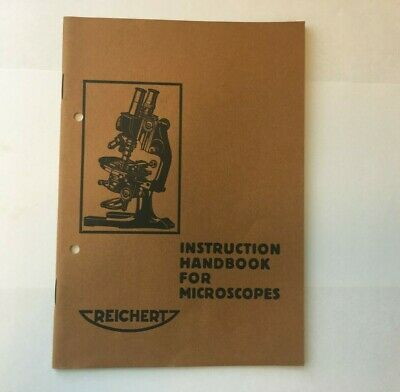 Instruction / user manual for C. Reichert microscopes 1930 `s Reichert Mikroskop