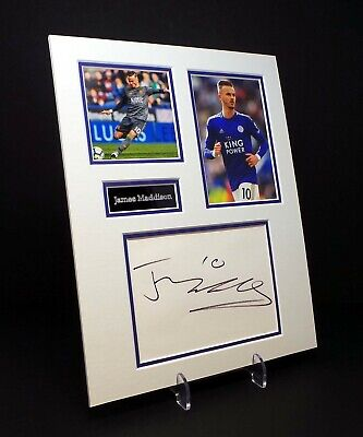 James MADDISON Signed Mounted Photo Display AFTAL COA Leicester City Footballer