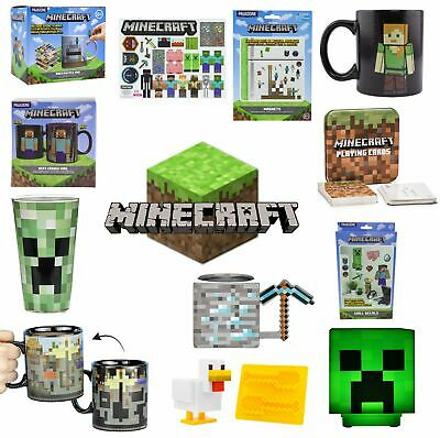 Mindcraft Official Range Wall Decals Glasses Mugs Playing Cards Lights Magnets