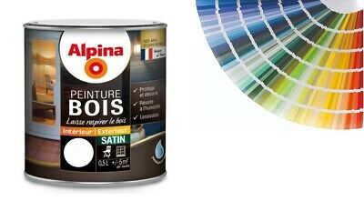Peinture Alpina Special Bois Microporeuse 0.5L Decoration Protection Intemperie