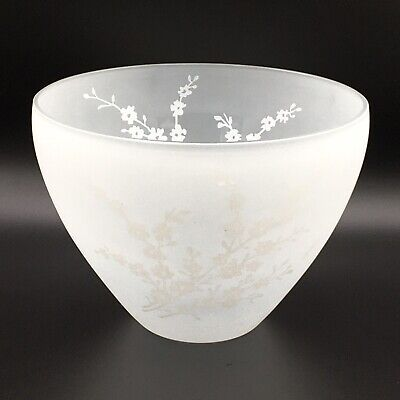 KROSNO Polish Crystal Frosted Bowl with floral design