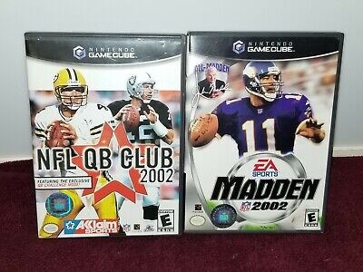 Madden 2002 and NFL QB Club 2002 for Nintendo Gamecube!! Both COMPLETE!!!!