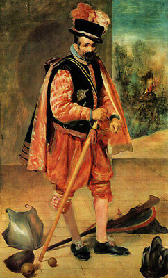 "oil painting on canvas ""The Jester called Don Juan of Austria ""@NO9218"