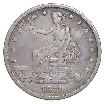 1878-S Seated Liberty Silver Trade Dollar - Charles Coin Collection *962
