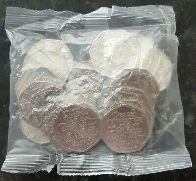 Full Bag UK Brexit 50p Fifty Pence Coins 2020 Uncirculated