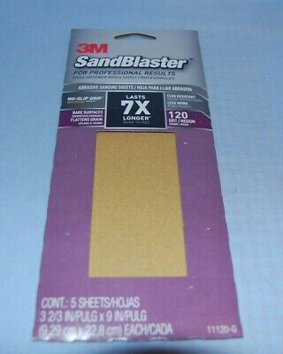 3M Sandblaster 120 Grit Medium 5 Sheets 11120-G