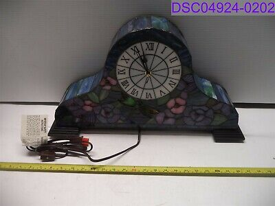 River of Goods Stained Glass Lit Mantle Clock P/N 18308 K423108-01677-00000