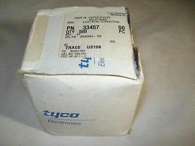 500 PIECE BOX TYCO AMP 12-10 AWG Non-Insulated Crimp Ring Terminals #10 Stud