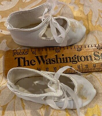 """French antique style shoes for French German bisque doll  2 1//8/"""" long sz8"""