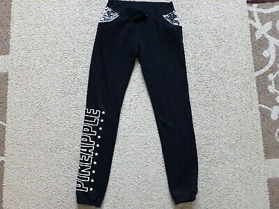 Pineapple girls Black Trousers bottoms Size 12-13 years