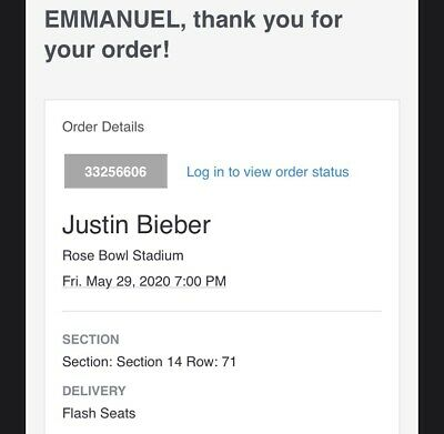 Justin Bieber Changes Tour Tickets Section 14 Row 71