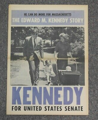 Edward Kennedy for Senator Large Campaign Newspaper