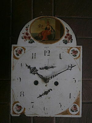 C1830 8DAY  LONGCASE GRANDFATHER CLOCK DIAL+movement 12X16+1/2 inch