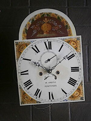 C1830 8DAY  LONGCASE GRANDFATHER CLOCK DIAL+movement 13X18 inch    W ANSELL OF P