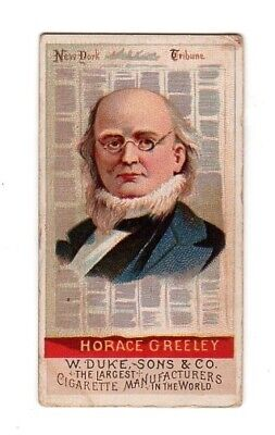 1888 Horace Greeley Great American Tobacco Card