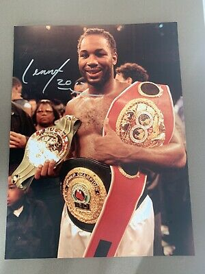 Lennox Lewis Hand Signed 16x12 (A3) World Champion Boxing Photo - Great Britain