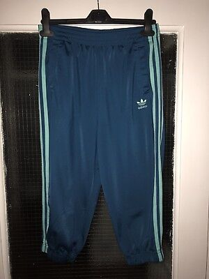 Adidas Girls Teal Crop Trousers Size 14-15 Yrs