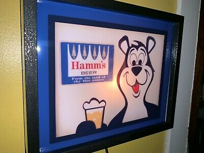 Hamm's Bear Beer Bar Man Cave Lighted Advertising Sign2